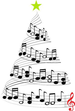 Christmas Music Notes Tree